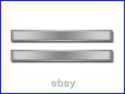 1968-1977 Chevy C3 Corvette Doorsills Polished & Brushed Stainless Steel 2 Piece