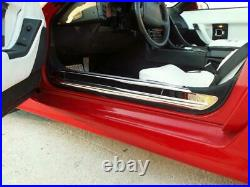 1988-1996 Chevy C4 Corvette Polished Doorsills Stainless Steel 2 Piece Kit