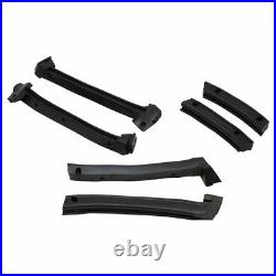 Convertible top Window Roof Rail Weatherstrip Kit Set of 6 for Chevy Corvette