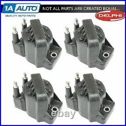 Delphi GN10123 Ignition Coil Set of 4 for Buick Cadillac Chevy GMC Olds Pontiac