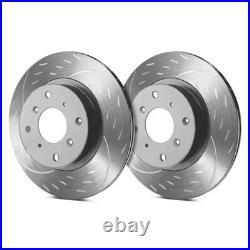 For Chevy Corvette 05-13 Brake Rotors Diamond Slot Dimpled & Slotted 1-Piece