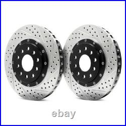 For Chevy Corvette 06-13 EradiSpeed+ Drilled & Slotted 2-Piece Rear Brake Rotors