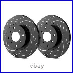 For Chevy Corvette 14-18 Dimpled & Slotted 1-Piece Front Brake Rotors