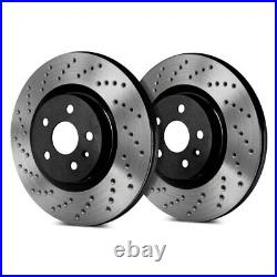 For Chevy Corvette 14-18 SP Performance Cross Drilled 1-Piece Front Brake Rotors
