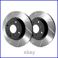 For Chevy Corvette 14-18 SP Performance Slotted 1-Piece Front Brake Rotors