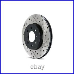 For Chevy Corvette 14-19 Brake Rotor Sport Drilled & Slotted 1-Piece Front