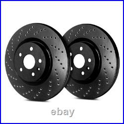 For Chevy Corvette 17-19 SP Performance Cross Drilled 1-Piece Rear Brake Rotors