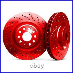 For Chevy Corvette 63-82 Drilled & Slotted 1-Piece Front Brake Rotors