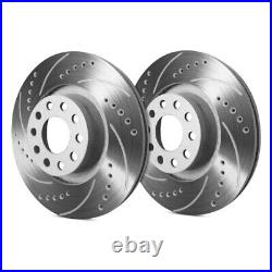 For Chevy Corvette 65-82 Drilled & Slotted 1-Piece Rear Brake Rotors