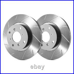 For Chevy Corvette 65-82 SP Performance T55-41 Slotted 1-Piece Rear Brake Rotors