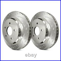 For Chevy Corvette 84-87 Brake Rotors Diamond Slot Dimpled & Slotted 1-Piece