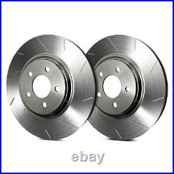 For Chevy Corvette 84-87 SP Performance Slotted 1-Piece Front Brake Rotors