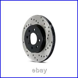 For Chevy Corvette 84-87 Sport Drilled 1-Piece Front Driver Side Brake Rotor