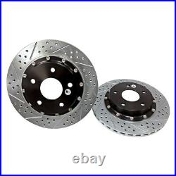 For Chevy Corvette 88-95 Brake Rotors EradiSpeed+ Drilled & Slotted 2-Piece