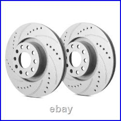 For Chevy Corvette 88-95 Drilled & Slotted 1-Piece Front Brake Rotors