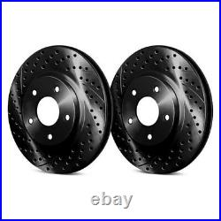 For Chevy Corvette 88-96 Drilled & Slotted 1-Piece Front Brake Rotors