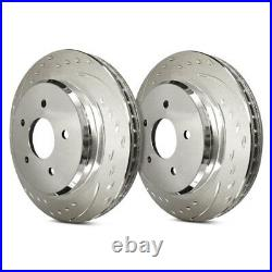 For Chevy Corvette 97-04 Brake Rotors Diamond Slot Dimpled & Slotted 1-Piece