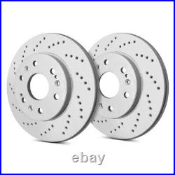 For Chevy Corvette 97-04 SP Performance Cross Drilled 1-Piece Rear Brake Rotors