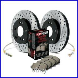 For Chevy Corvette 97-04 Sport Drilled & Slotted 1-Piece Front Brake Kit