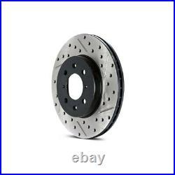 For Chevy Corvette 97-13 Brake Rotor Sport Drilled & Slotted 1-Piece Rear