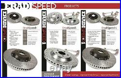 For Chevy Corvette 97-13 Brake Rotors EradiSpeed+1 Drilled & Slotted 2-Piece