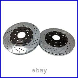 For Chevy Corvette 97-13 Brake Rotors EradiSpeed+ Drilled & Slotted 2-Piece