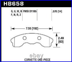 Hawk 2010-2013 for Chevy Corvette Grand Sport (One-Piece Pads) High Perf. Street