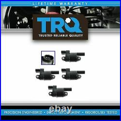 TRQ Ignition Coil Kit Set of 4 for Silverado Sierra Pickup Truck Express H2 GTO