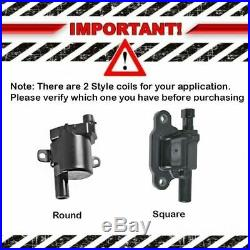 TRQ Ignition Coil Set of 8 for Chevy Pontiac GMC Buick Cadillac Pickup Truck SUV